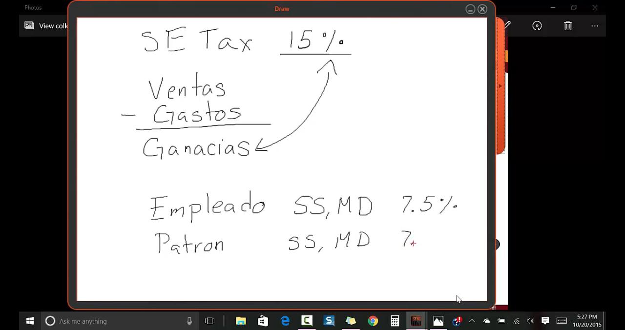 SE Tax - Impuesto de Empleo por su Cuenta -Impuestos de un Negociothumb